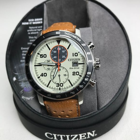 Citizen Other - Citizen Eco Drive Leather Men's NWT